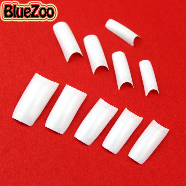 BlueZoo 500pcs Full Cover Fake Nails False Tips Art White Black French Acrylic French Nail Tips For Nail Art Decoration