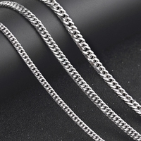 DOYUBO New Arrival Men 925 Sterling Silver Horsewhip Necklaces With No Pendant 4mm/5mm/6mm Width Male Solid Silver Chains VG012