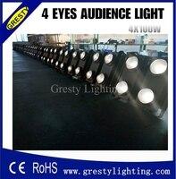 Darmowa wysyłka 4 sztuk/partia publiczność blinder światła 400 w cob led DMX512 2/6ch ww/wc cob publiczność blinder światła