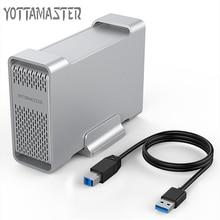 Yottamaster High-end HDD Docking Station Dual-bay 2.5 inch USB3.0 to SATA3.0 External HDD Case  8TB Support Raid 0 /1 / SPAN