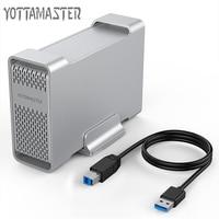 Yottamaster High end HDD Docking Station Dual bay 2.5 inch USB3.0 to SATA3.0 External HDD Case 8TB Support Raid 0 /1 / SPAN