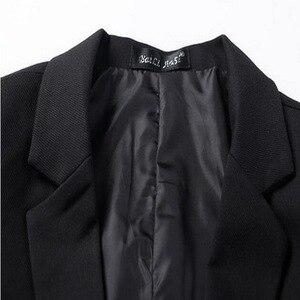 Image 5 - VXO męska Casual Slim Fit solidna żakiet z dzianiny dresowej męska suknia ślubna marynarka marki męska casualowa kurtka Slim Fit Asian rozmiar M 6XL