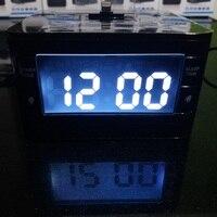 Estilo do carro portátil orador docking station dock para ipod iphone 5 5S 5c 6 6 + 7 ipad com alarme do rádio relógio