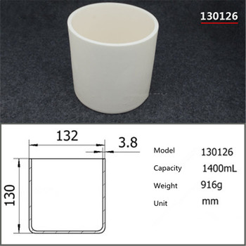 99.5% Cylindrical corundum crucible/1400ml/Temperature resistance 1600 degree / sintered ceramic crucibl