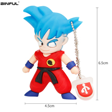 Usb Flash Drive 128GB Classic Cartoon Super Saiyan Pen 64GB 32GB 16GB Pendrive 8GB 4GB High Speed 2.0 Thumbdrives Gift