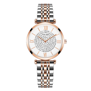 Image 2 - Gypsophila Diamond Design Women Watches Fashion Silver Round Dial Stainless Steel Band Quartz Wrist Watch Gifts relogiosfeminino