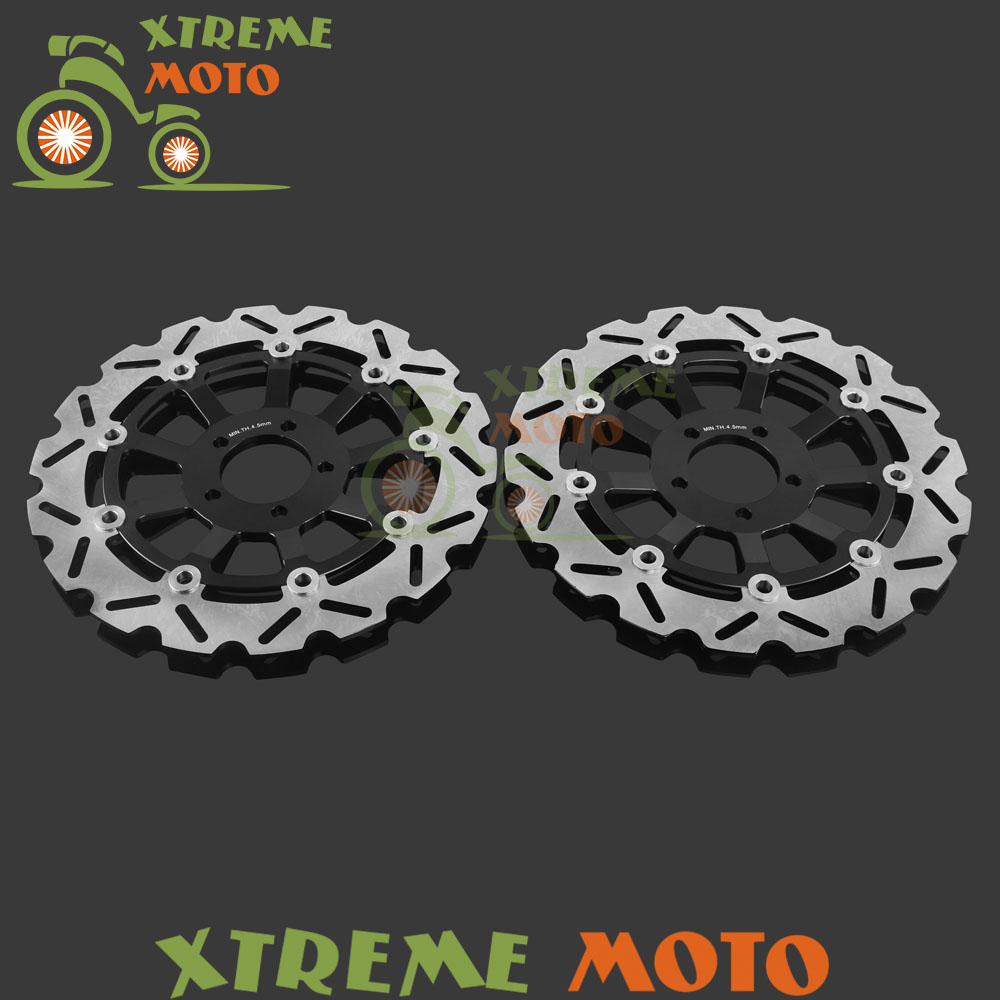 Motorcycle Front Floating Brake Disc Rotor For Kawasaki ZXR 400 91-02 750 89-95 ZX9R 00 01 ZRT1100B 02-05 ZR1100 92-95 02-05 цены онлайн