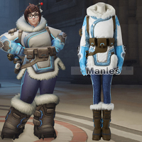 Hot Game Mei Costume Cosplay Full Set Mei Outfit Adult Women Halloween Carnival Clothes Cosplay Clothing Custom Made Female