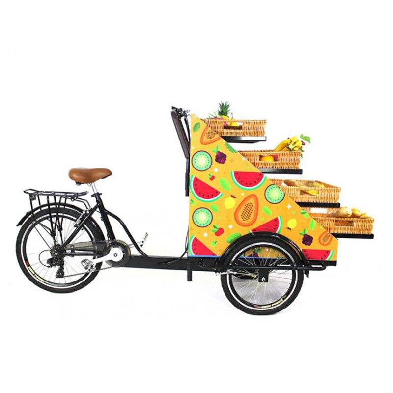 Preço conveniente do rickshaw do automóvel do triciclo dos doces bondes mini em bangladesh