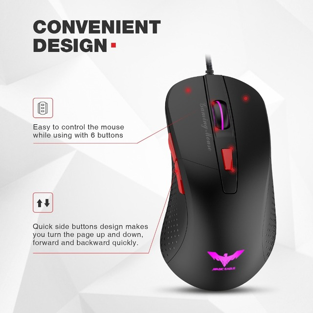 HAVIT Wired Gaming Mouse USB Optical Mouse 5
