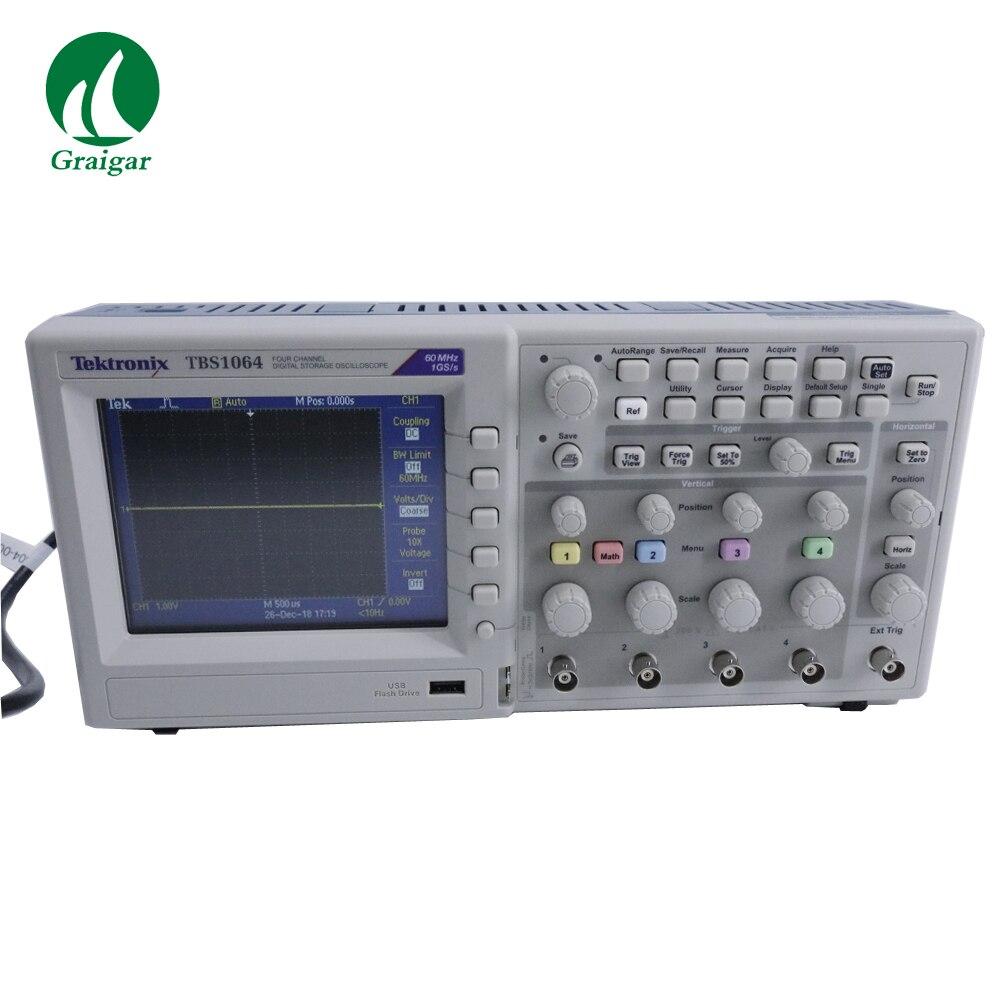 Новый Tektronix TBS1064 цифровой осциллограф пропускная способность 60 МГц 4 канала 1 GS/s выборки 2,5 к точек запись длина