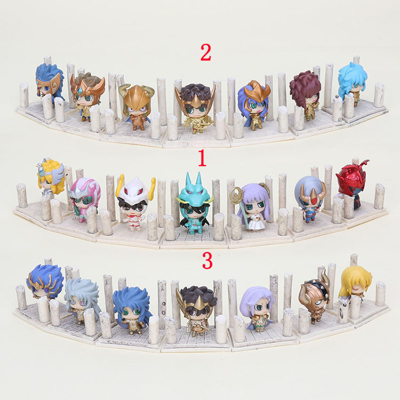 7pcs lot 3styles Anime Saint Seiya Egg Box Q Version The Gold Zodiac PVC Action Figure Collection Model Toys kids Christmas gift ольга кобилянська людина
