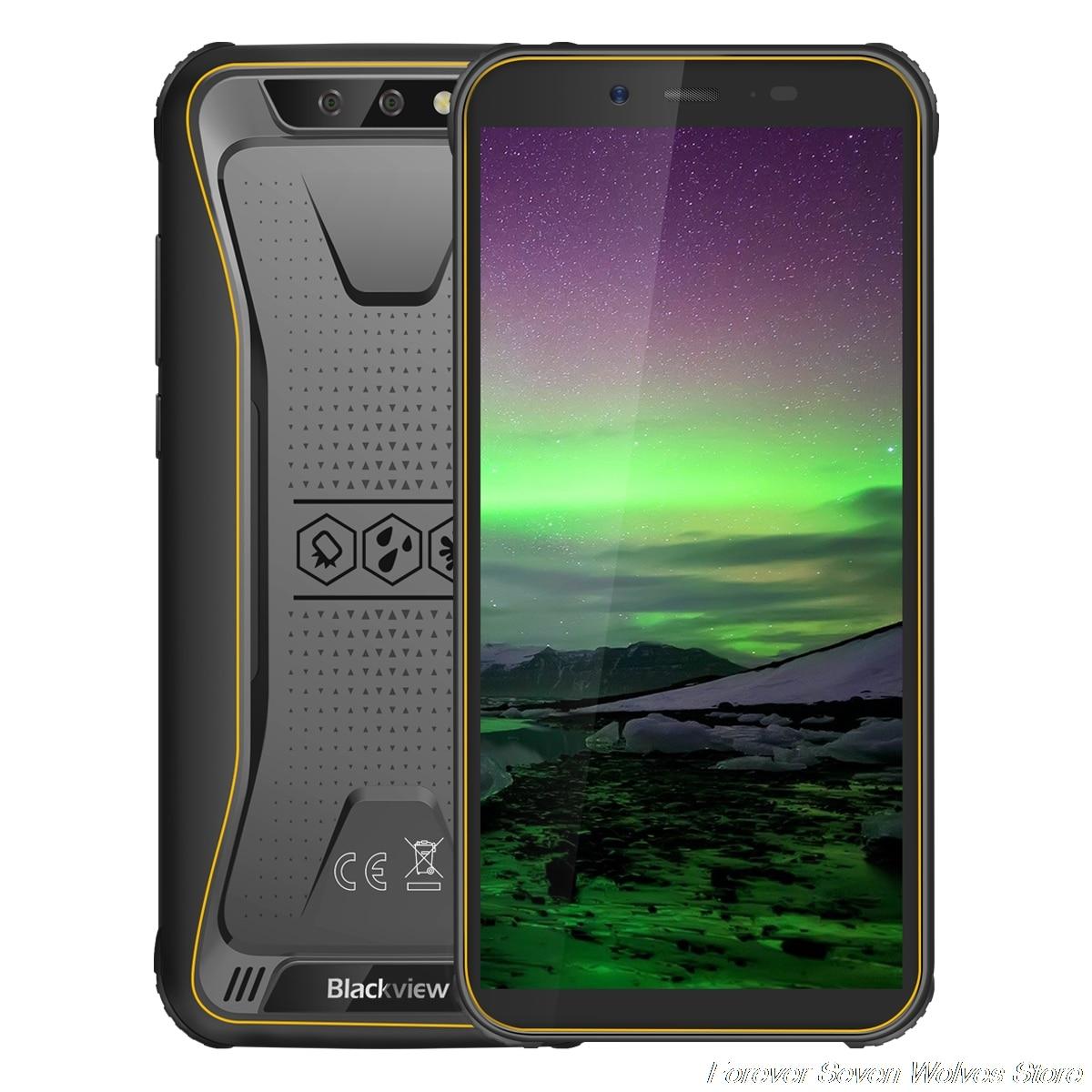 Купить Blackview BV5500 IP68 Водонепроницаемый MTK6580P Android 8,1 мобильный телефон 5,5