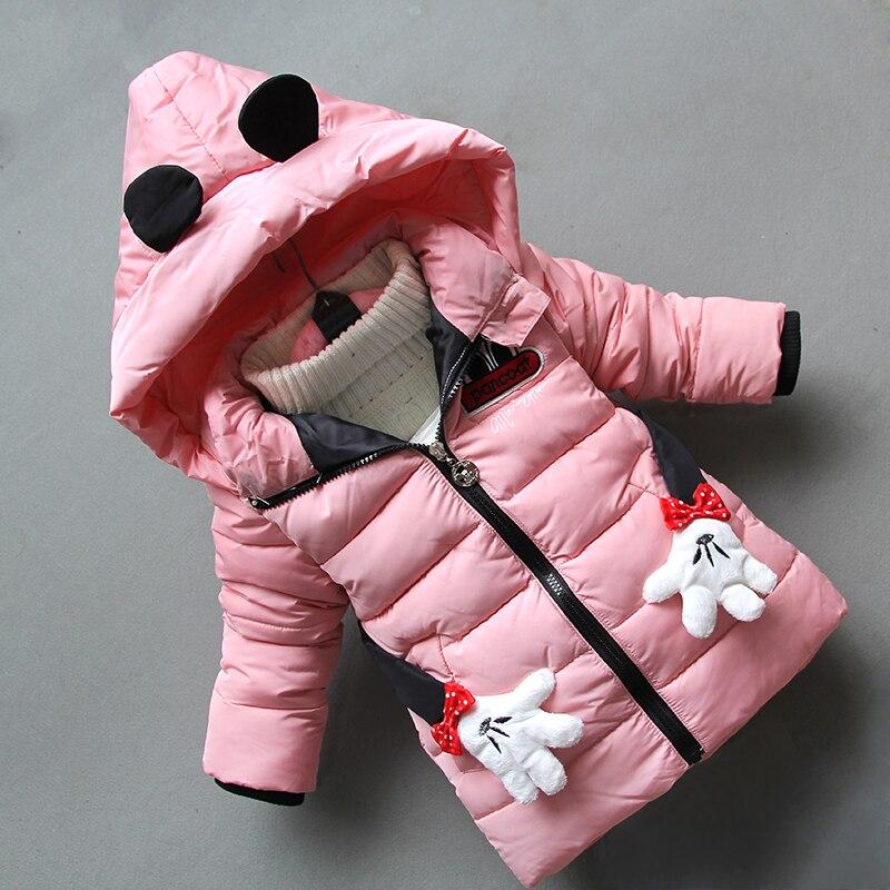 BibiCola filles vestes hiver enfants filles épaissir vêtements décontracté sports manteaux épaissir survêtement marque à capuche survêtements