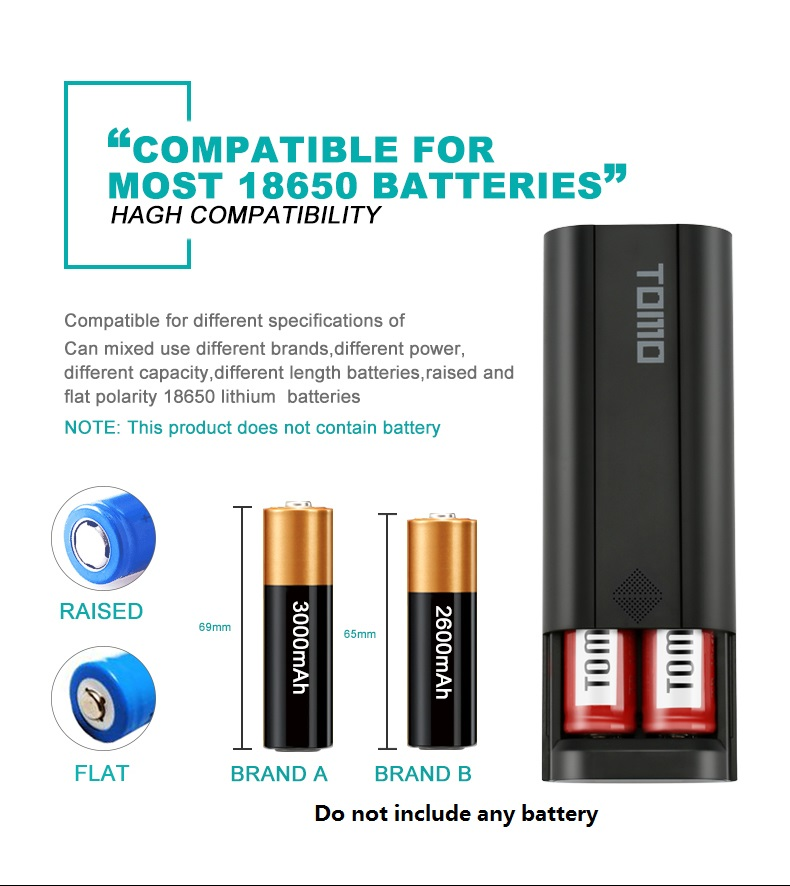5pcs/lot new Smart Universal LCD 18650 LI-ion battery charger USB intelligent battery charger Mobile power bank case accessory