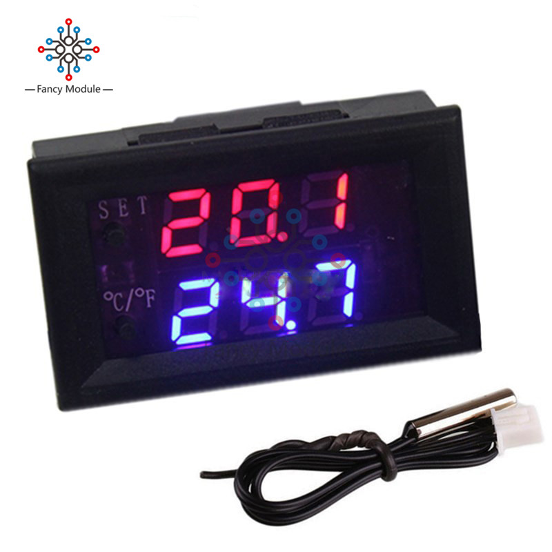 W1209WK Digital LED Thermostat Temperature Controller Smart Temp Sensor Board Module 12V DC + Waterproof NTC Sensor w1209 green led digital thermostat temperature control thermometer thermo controller switch module dc 12v waterproof ntc sensor