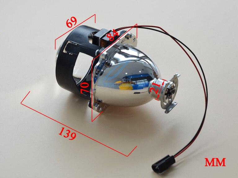 2014 автомобилей Стайлинг дооснащения включая 35 Вт H1 hid bi-xenon фары лампы 3000 К и объектив проектора с мини пушки Гатлинга Плащаница