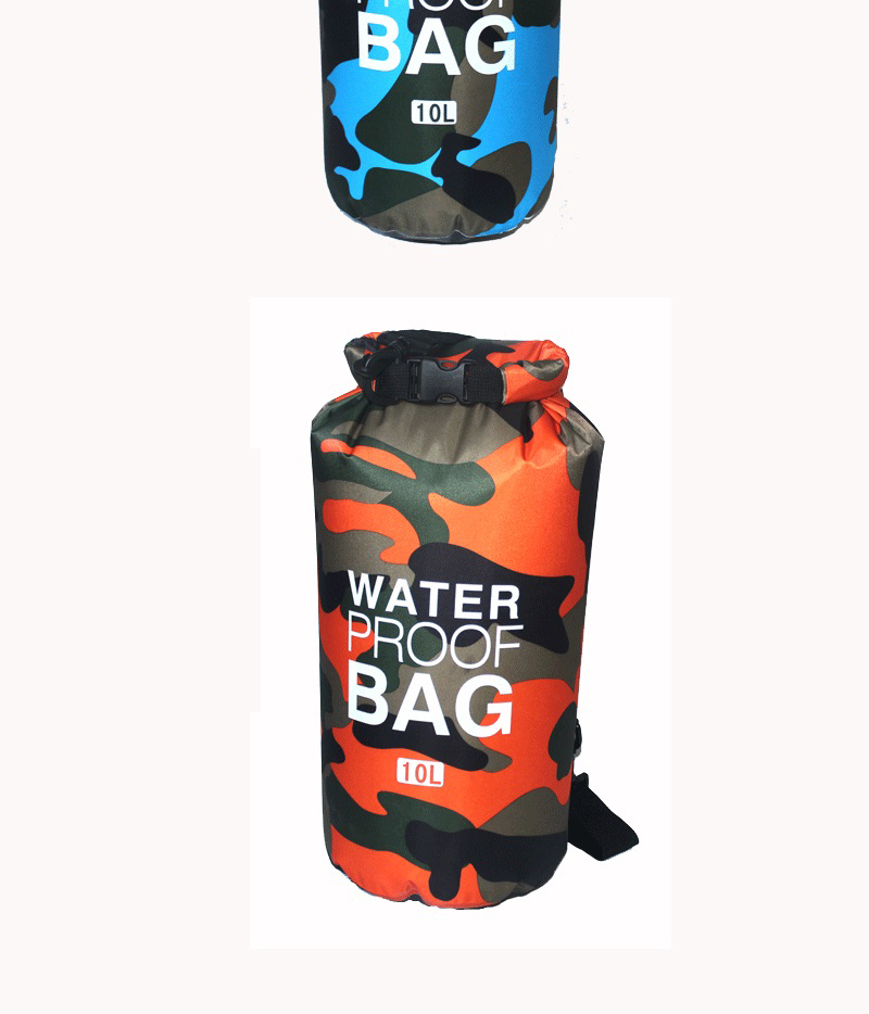 Topdudes.com - Ultralight Camouflage Bag for Drifting Swimming River Trekking 2L/5L/10L/15L/20L