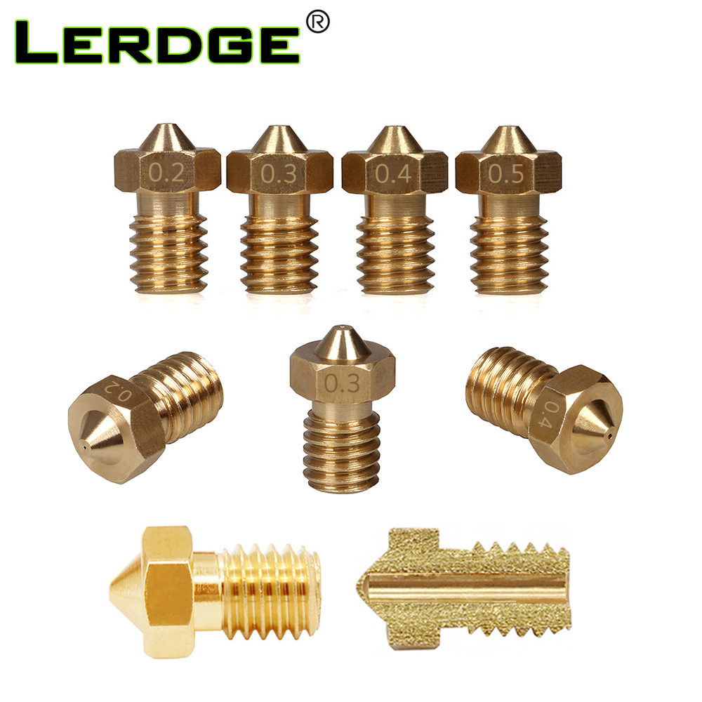 LERDGE 3d Printer Nozzle J-head V5 Hotend V6 Extruder Kit For 1.75mm Filamnet 0.2mm 0.3mm 0.4mm 0.5mm Set 3D Printer Parts 1PC