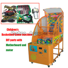Coin operated Basketball Game Kit parts with Motherboard and sensors for DIY Children Arcade shooting Ball Game cabinet machine