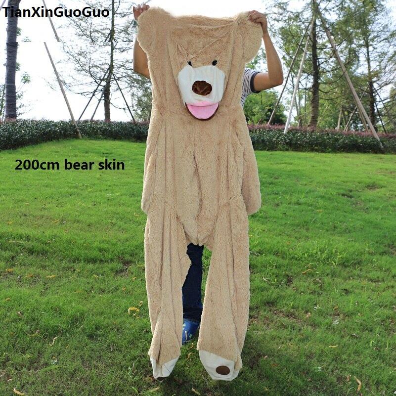 Énorme 200 cm, 260 cm USA ours en peluche en peluche, étui de poupée ours brun doux, pas de garnitures, cadeau d'anniversaire b2749