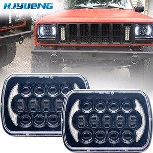 Image 1 - 5X7 pulgadas 85W h4 bombilla de faro LED 7x6 pulgadas faro DRL para Jeep Wrangler YJ XJ camión FLD Firebird Celica 240SX 7 pulgadas lámpara led