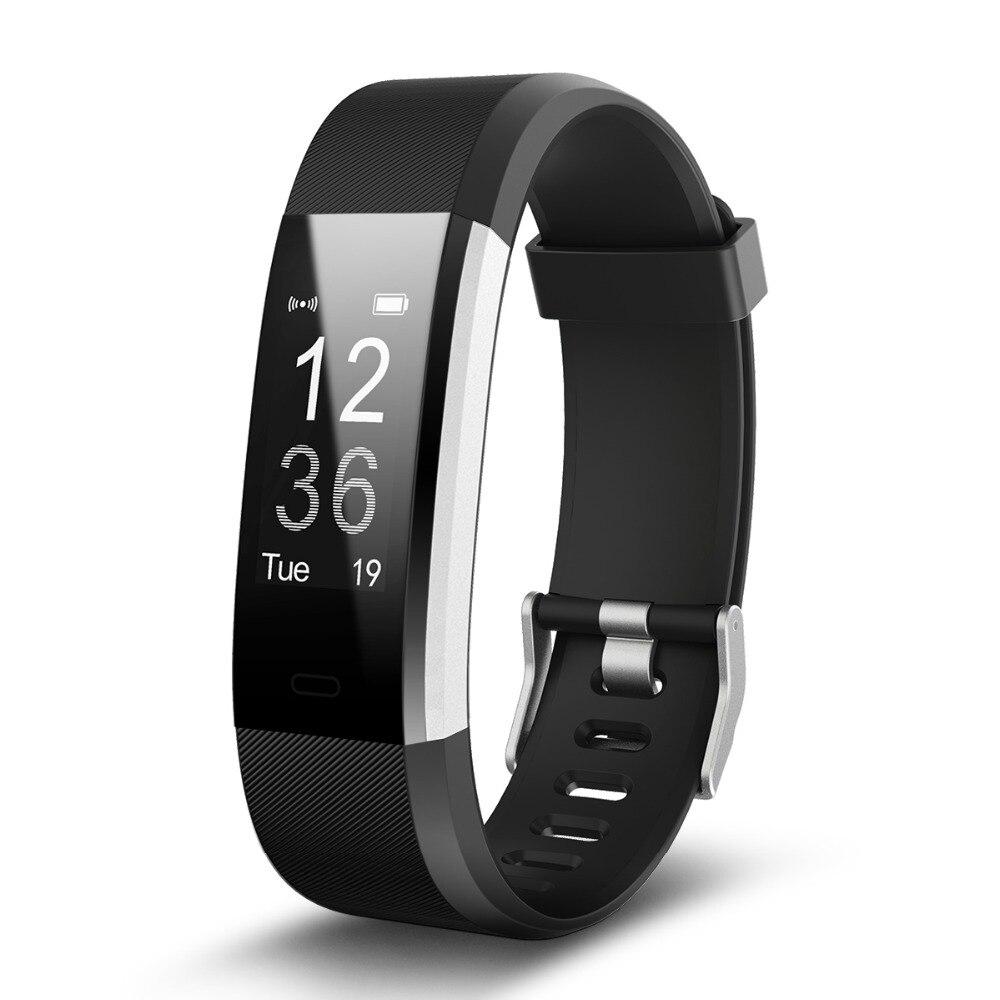 YourTribe ID115 HR Plus font b Smart b font Wristband Heart Rate Monitor font b Fitness