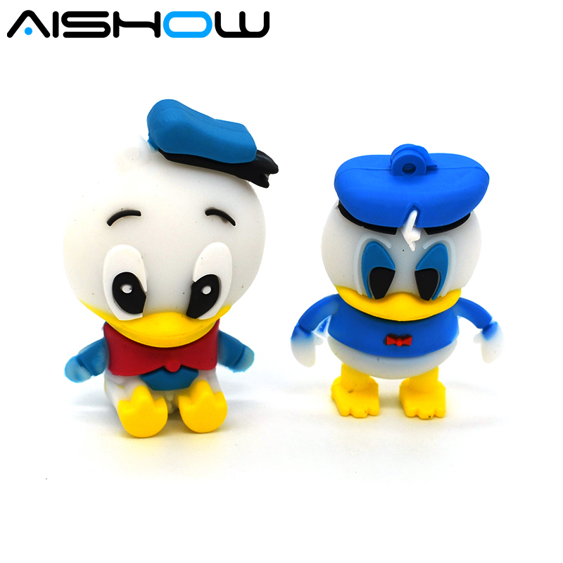100% prawdziwa pojemność piękne Kaczor donald flash usb flash pendrive cartoon Pen Drive USB Flash Memory Stick darmowa wysyłka