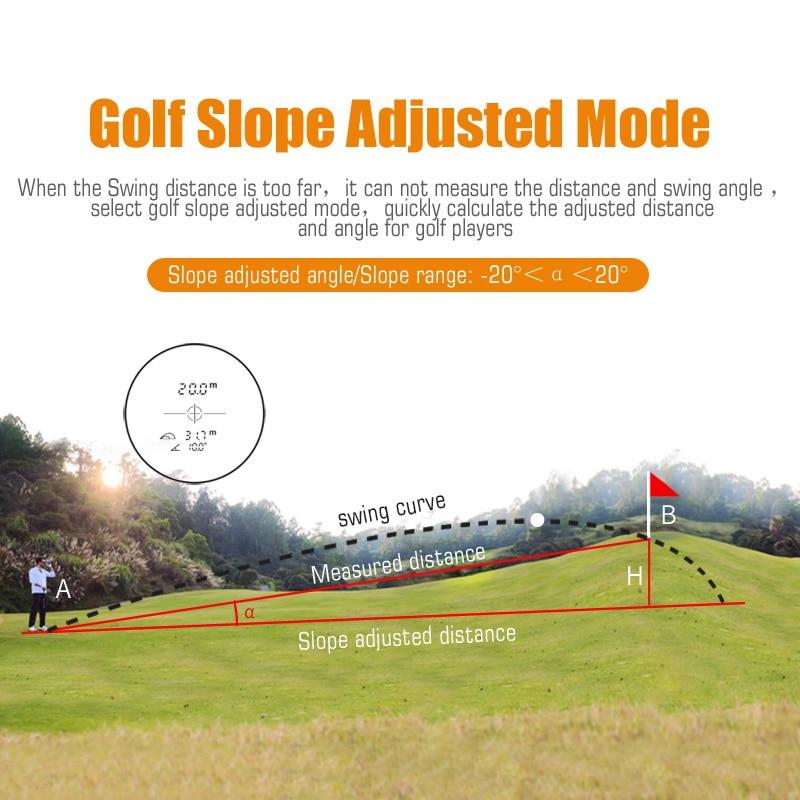 Mileseey PF210 600M Golf Laser Rangefinder Mini  Golf Slope Adjusted Mode Sport Laser Distance M