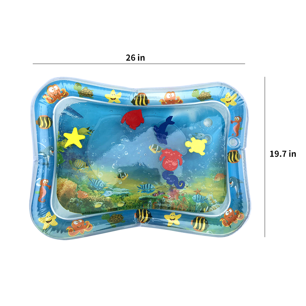 Creative Dual Use Water Play Mat For Kids Baby Inflatable Patted Pad Water Cushion Mat For Toddler Baby Fun Activity Play Center