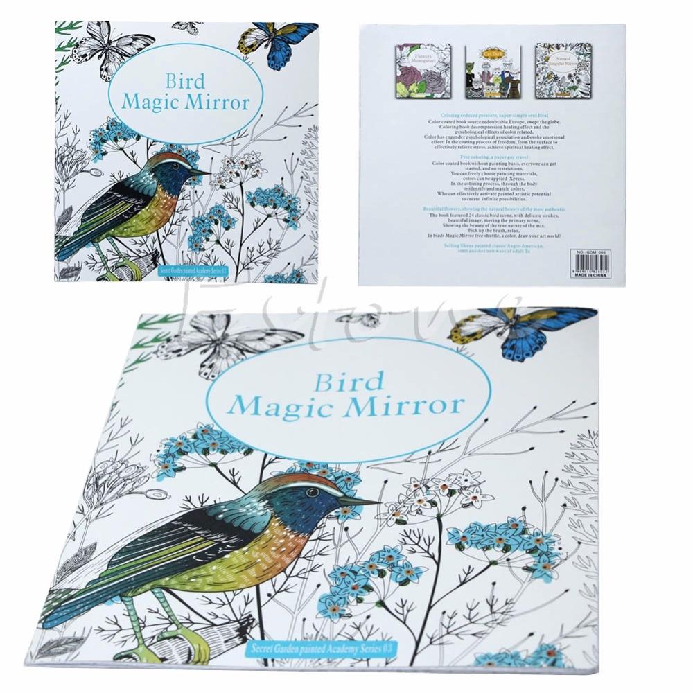 popular birds coloring book buy cheap birds coloring book lots from china birds coloring book Radio Coloring Book  Bird Magic Mirror Coloring Book