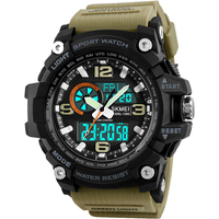 SKMEI Brand Men Sport Watches Quartz Analog Digital Watch Military Outdoor Wristwatches Waterproof Electronic Relogio Masculino