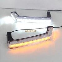 LED Daytime Running Lights DRL Case For Jeep Wrangler 2008 2015 LED Front Bumper Fog Lamp