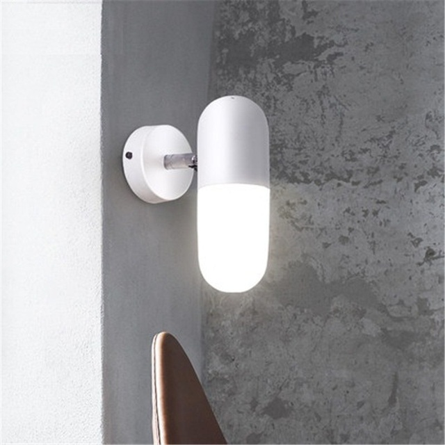 Loft Style Iron Glass Adjust Wall Sconce Modern LED Wall Light Fixtures Creative Capsules Bedside Wall Lamp Indoor Lighting