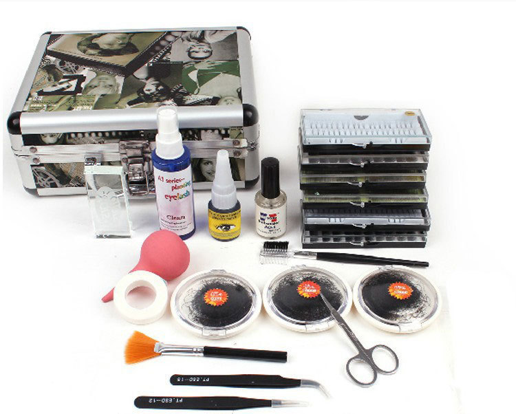 ATT-87 ro New False Eye Lashes Extension Glue Kit Set Individual Eyelashes Salon Case Makeup Tools For Women Free Shipping pf 03 printer printhead print head for canon pixma ipf825 ipf5000 ipf5100 ipf6000s ipf6100 ipf6200 ipf8000 ipf8000s ipf8010s