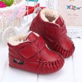 Hot Free Shipping Bling 4-Colors Optional Baby Shoes 0-24M Infants Casual Shoes Branded Leather Newborn leather cotton Shoes