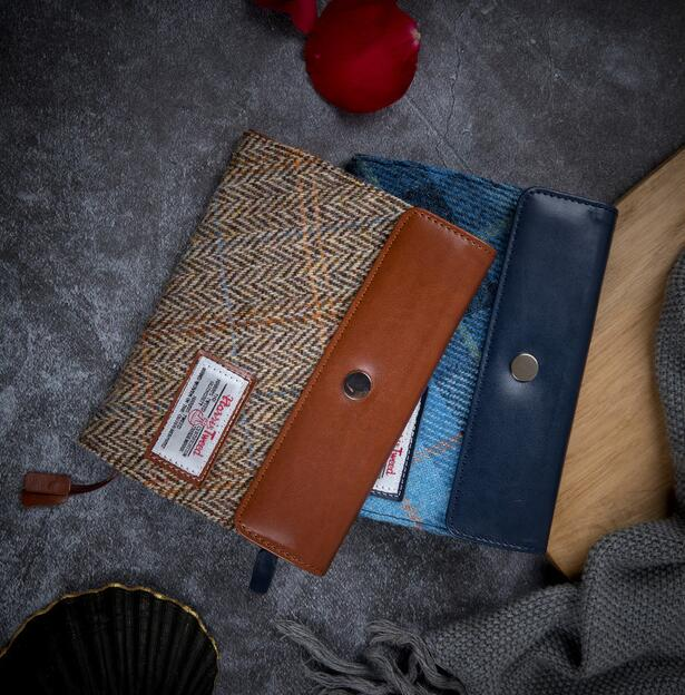 Harris Tweed Classic Material Envelope Design Fitted Journal Cover A5 A6 Suit For Standard A5/A6 Fitted Paper Book