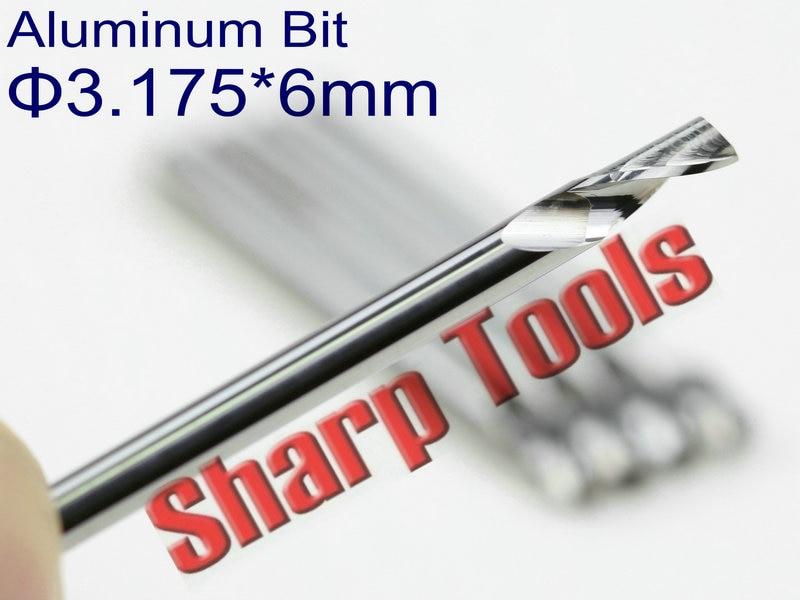 3,175 mm x 15 mm x 3 mm single flute straight groove drill bits 5 pieces