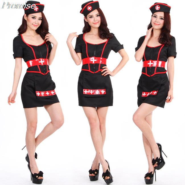 online shop wholesale halloween costumes for women little black dress cosplay nurse playing uniform temptation stage costume aliexpress mobile - Halloween Costumes With A Black Dress