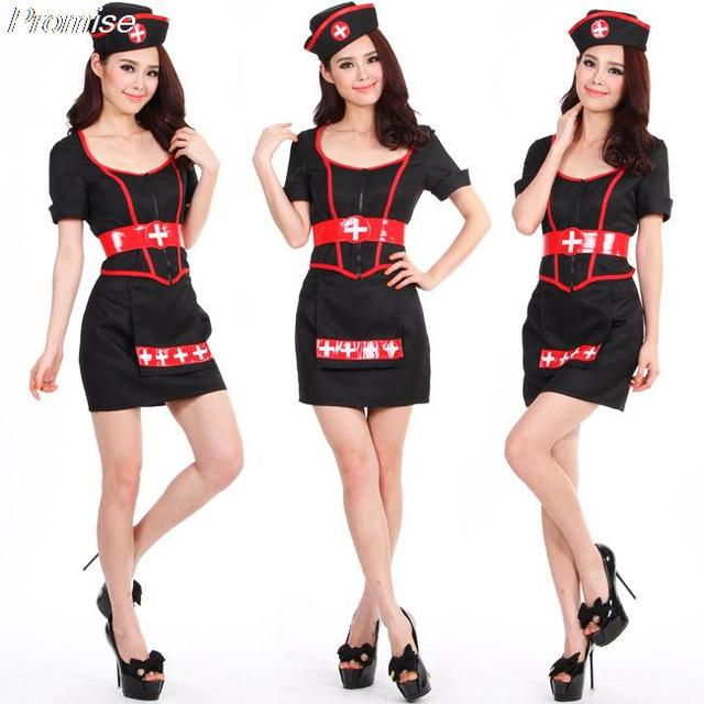 Wholesale Halloween Costumes for Women little black dress COSPLAY ...