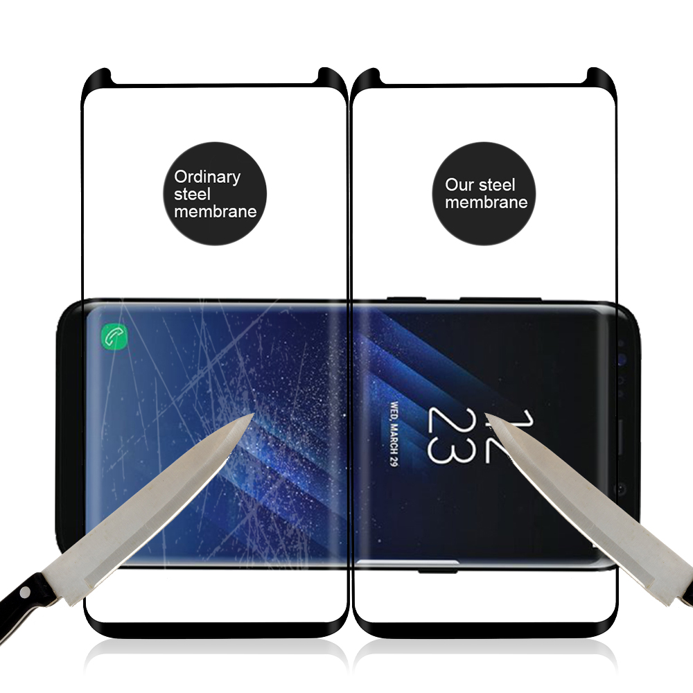 OTAO Case Friendly Tempered Glass Screen Protector Protective Film for Samsung Galaxy S8 S8+ Plus