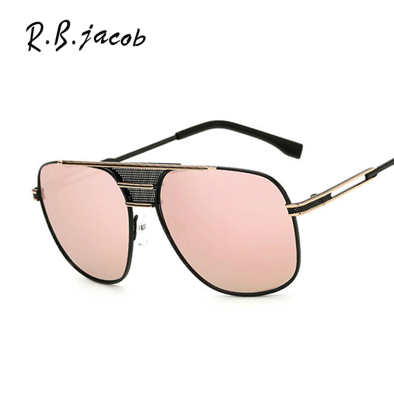 Big Size Fashion Square Sunglasses Women Mirror 2017 New Brand Designer Lady Female Super Men Sun glasses UV400 Metal Frame
