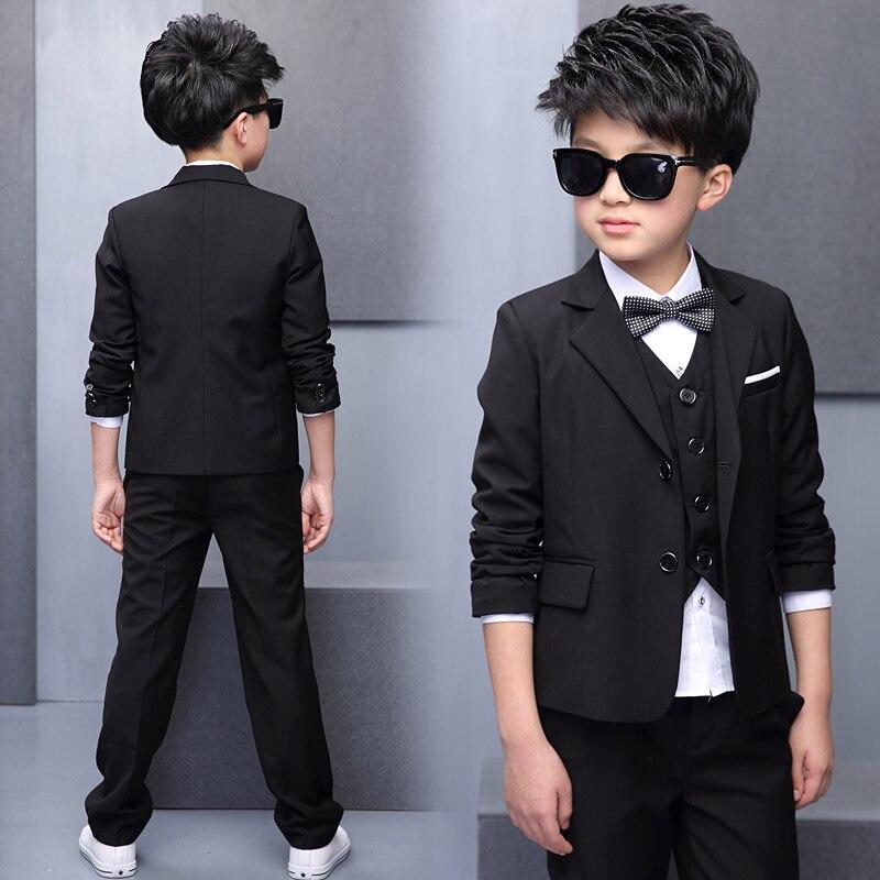 df0ebc404b6fe WENDYWU 2017 nouveau costume de garçons costumes pour enfants 5 pièces  gilet + veste + pantalon