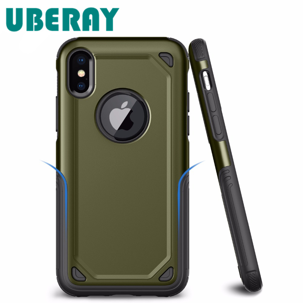 For Apple <font><b>iPhone</b></font> 6s 8 7 6 Plus X PC + Silicone TPU Military Anti Shock Camouflage Armor <font><b>Case</b></font> For <font><b>iPhone</b></font> X <font><b>XR</b></font> XS Max Defend Cover image