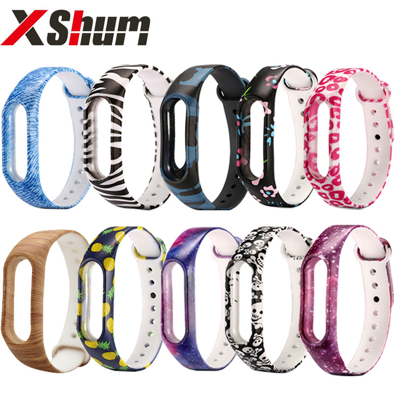 XShum Mi Band 2 Bracelet Strap Colorful silicone Miband 2 Strap Replacement Wristband Strap for Mi Band 2 Smart Accessories silicone bracelet strap for miband 2 colorful strap wristband belt replacement smart band accessories for xiaomi mi band 2