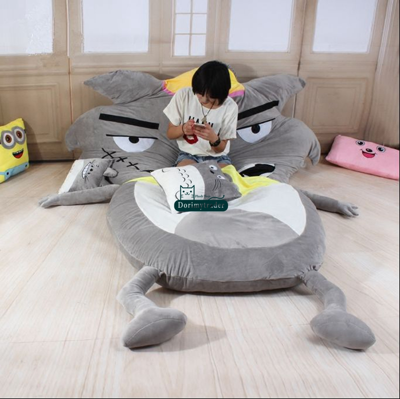 Super Us 365 0 Dorimytrader 220 Cm X 170 Cm Hot Cartoon Wolf Zitzak Pluche Soft Jumbo Bed Sofa Tatami Matras Met Katoen Gratis Verzending Dy61065 In Squirreltailoven Fun Painted Chair Ideas Images Squirreltailovenorg