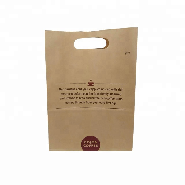 Shopping Bag Usage Diecut Hole Craft Paper Bag