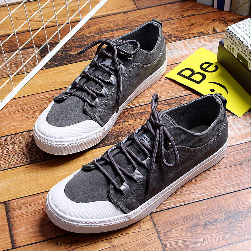 Solid Khaki Black Canvas Shoes Men Sneakers Casual Shoes 2018 New Fashion Men's Flats Lace Up Breathable Leisure Walking Spring 2017 patchwork lace up rubber sole canvas shoes breathable super leisure women casual shoes with flats student shoes rm 05