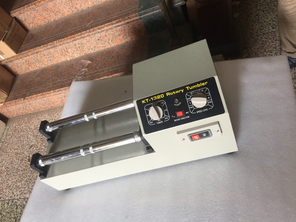 kt1320 vibrating rock tumbler gemstone diamond polishing machine drum metal cleaning tumbler. Black Bedroom Furniture Sets. Home Design Ideas