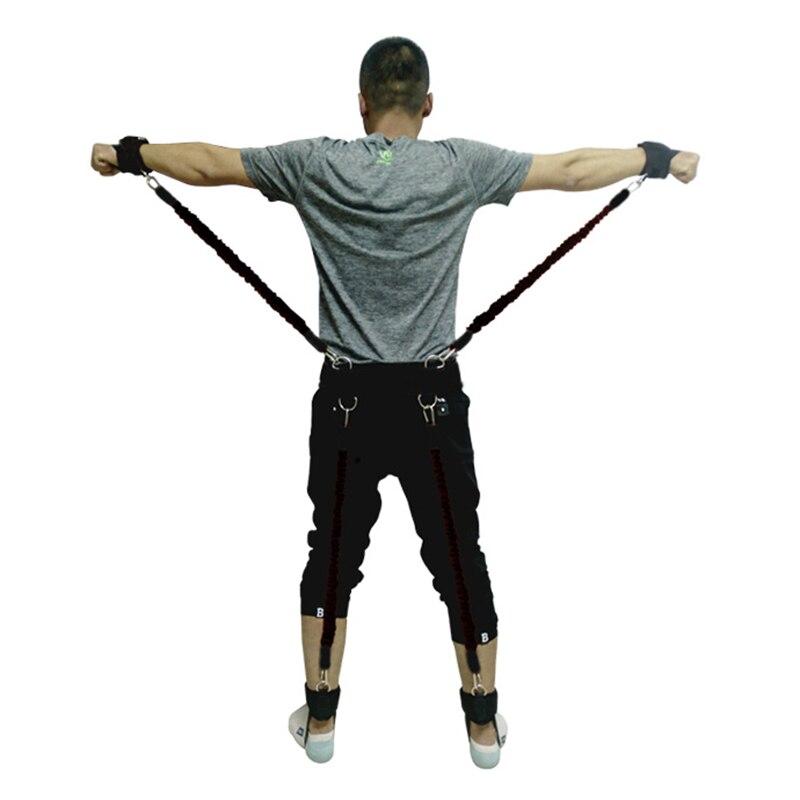 200lbs bandes de résistance boxe Fitness entraînement ceinture jambe force exercice pour 2019 ALS88 - 4